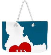Love Idaho White Weekender Tote Bag