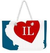Love Illinois White Weekender Tote Bag