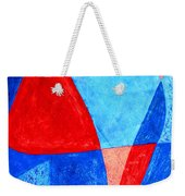 Love In Abstract Word Art Weekender Tote Bag