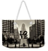 Love In Sepia Weekender Tote Bag