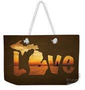 Love Lake Michigan Weekender Tote Bag