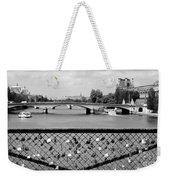 Love Locks Over The Seine Weekender Tote Bag