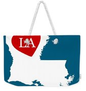 Love Louisiana White Weekender Tote Bag