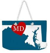 Love Maryland White Weekender Tote Bag