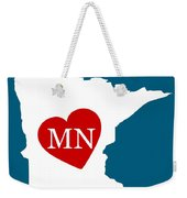 Love Minnesota White Weekender Tote Bag