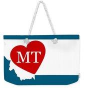 Love Montana White Weekender Tote Bag