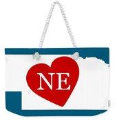 Love Nebraska White Weekender Tote Bag