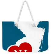 Love New Jersey White Weekender Tote Bag