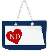 Love North Dakota White Weekender Tote Bag