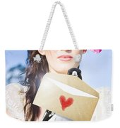 Love Note Delivery From The Heart Weekender Tote Bag