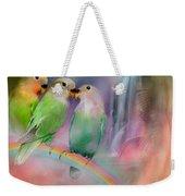 Love On A Rainbow Weekender Tote Bag by Carol Cavalaris