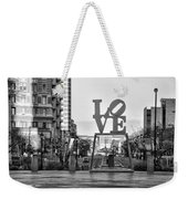 Love On The Parkway In Black And White Weekender Tote Bag