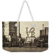 Love On The Parkway In Sepia Weekender Tote Bag