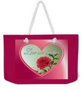 Love One Another Card Weekender Tote Bag