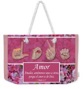 Love One Another Spanish Weekender Tote Bag
