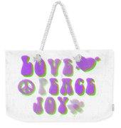 Love Peace And Joy 11 Weekender Tote Bag