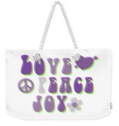 Love Peace And Joy Weekender Tote Bag