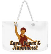 Love Peace And Nappiness Weekender Tote Bag