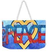 Love Peace Weekender Tote Bag