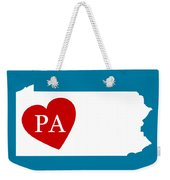Love Pennsylvania White Weekender Tote Bag