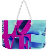 Love Philadelphia Neon Pink Weekender Tote Bag