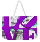 Love Philadelphia Purple Digital Art Weekender Tote Bag