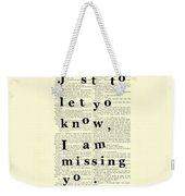 Love Poem, Valentine Gift  Weekender Tote Bag