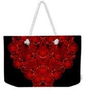 Love Red Floral Heart Weekender Tote Bag