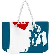 Love Rhode Island White Weekender Tote Bag