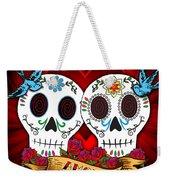 Love Skulls Weekender Tote Bag by Tammy Wetzel