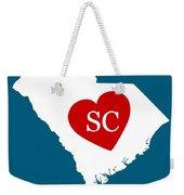 Love South Carolina White Weekender Tote Bag