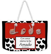 Love Spanish Bw Graphic Weekender Tote Bag