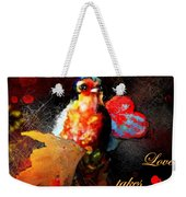 Love Takes Flight Weekender Tote Bag