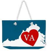 Love Virginia White Weekender Tote Bag