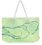 Lovebirds On Green Weekender Tote Bag
