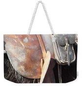 Loved Leather Tack Weekender Tote Bag