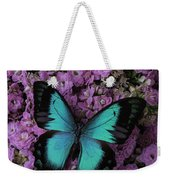 Lovely Green Winged Butterffly Weekender Tote Bag