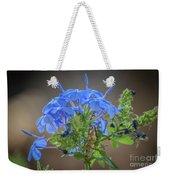 Lovely In Blue Weekender Tote Bag