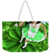 Lovely Irish Girl With A Glass Of Green Beer Weekender Tote Bag
