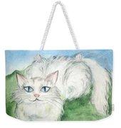 Lovely Kitty. White Cat Kusyaka Weekender Tote Bag