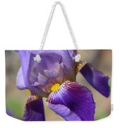 Lovely Leaning Iris Mother's Day Card Weekender Tote Bag