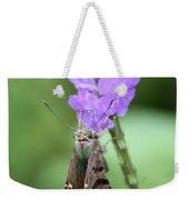 Lovely Moth On Dainty Flower Weekender Tote Bag