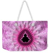 Lovely Pink Fractal Art Weekender Tote Bag