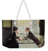 Lovers In A Cafe Weekender Tote Bag