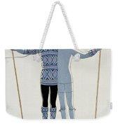 Lovers In The Snow Weekender Tote Bag by Georges Barbier