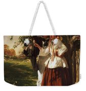 Lovers Under A Blossom Tree Weekender Tote Bag