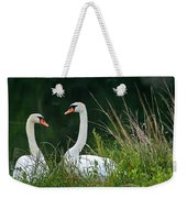 Loving Swans Weekender Tote Bag by Clayton Bruster