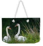 Loving Swans Weekender Tote Bag by Clayton Bruster