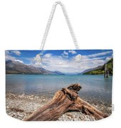 Low Angle View From The Rocky Dart River Bank At Kinloch, Nz Weekender Tote Bag