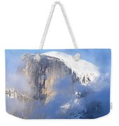 Low Angle View Of A Mountain Covered Weekender Tote Bag